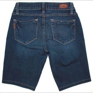 PAIGE Shorts - PAIGE 'Kylie Crop' Long Dark Wash Bermuda Shorts